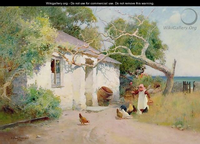 Feeding the Hens, 1894 - Arthur Claude Strachan