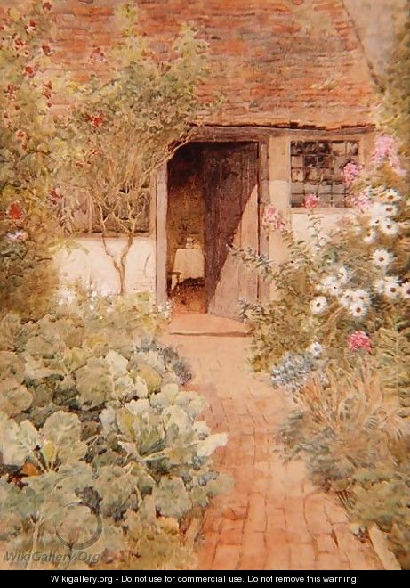 Cabbages in a Cottage Garden - Arthur Claude Strachan