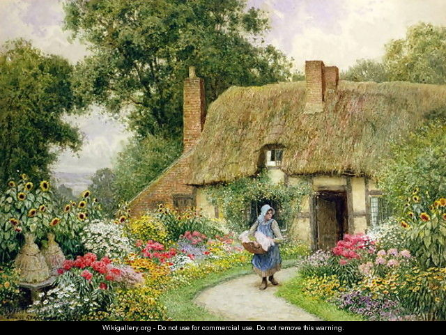 Taking out the Washing - Arthur Claude Strachan