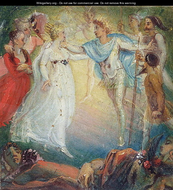 Oberon and Titania from A Midsummer Nights Dream by William Shakespeare 1564-1616 1806 - Thomas Stothard