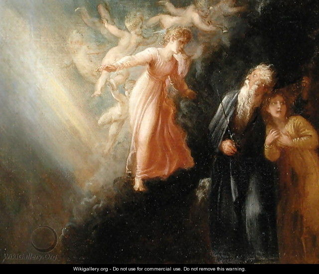 Prospero Miranda And Ariel From The Tempest C 1799 Thomas Stothard Wikigallery Org The Largest Gallery In The World