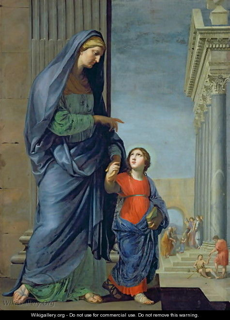 St. Anne Leading the Virgin to the Temple, c.1635-45 - Jacques Stella