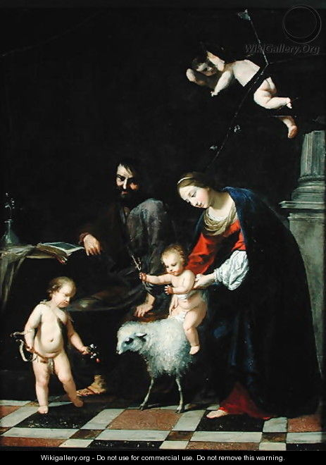 The Holy Family - Jacques Stella
