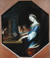 St. Cecilia Playing the Organ - Jacques Stella
