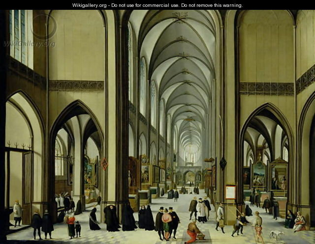 Interior of Antwerp cathedral - Hendrik van Steenwyck