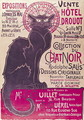 Poster advertising an exhibition of the Collection du Chat Noir cabaret at the Hotel Drouot, Paris, May 1898 - Theophile Alexandre Steinlen