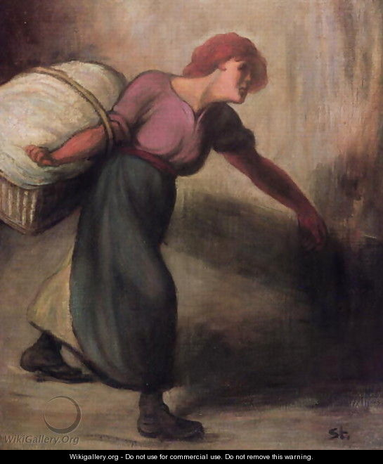 The Laundress, 1894 - Theophile Alexandre Steinlen
