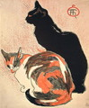 Two Cats. Poster for the Exposition de loeuvre dessine et peint de T.A. Steinlen, 1894 - Theophile Alexandre Steinlen