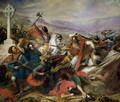 The Battle of Poitiers, 25th October 732, won by Charles Martel 688-741 1837 - Charles Auguste Steuben