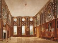 The Guard Chamber, Hampton Court, from The History of the Royal Residences, engraved by Richard Reeve b.1780, by William Henry Pyne 1769-1843, 1819 - James Stephanoff