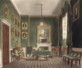 The Green Closet, Buckingham House, from The History of the Royal Residences, engraved by Daniel Havell 1785-1826, by William Henry Pyne 1769-1843, 1819 - James Stephanoff