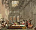 Kitchen, St. Jamess Palace, engraved by William James Bennett 1787-1844 from The History of the Royal Residences by William Henry Pyne 1769-1843 pub. 1819 - James Stephanoff