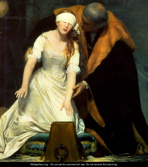 The Execution Of Lady Jane Grey 1834 Centre - Paul Delaroche
