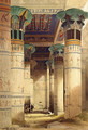 View under the Grand Portico, Philae, from Egypt and Nubia, Vol.1 - David Roberts