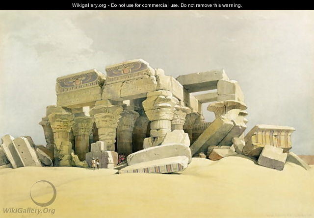 Ruins of the Temple of Kom Ombo, from Egypt and Nubia, Vol.1 - David Roberts