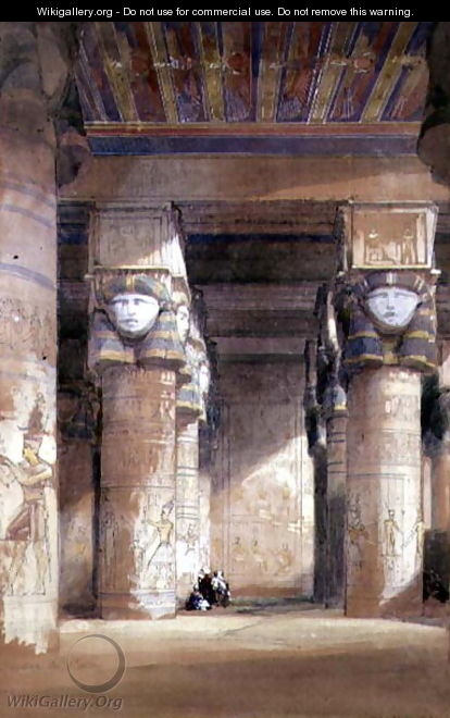 Dendera ancient Tentyris, 1838 - David Roberts