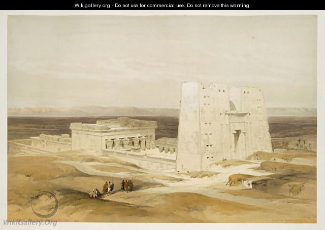 Temple of Edfu, ancient Apollinopolis, Upper Egypt, from Egypt and Nubia, Vol.1 - David Roberts