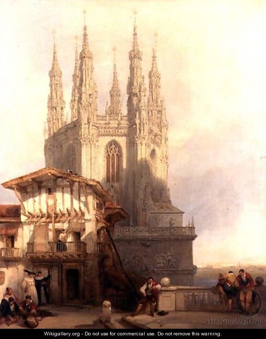 The Entrance to the North Transept, Burgos Castle, 1835 - David Roberts