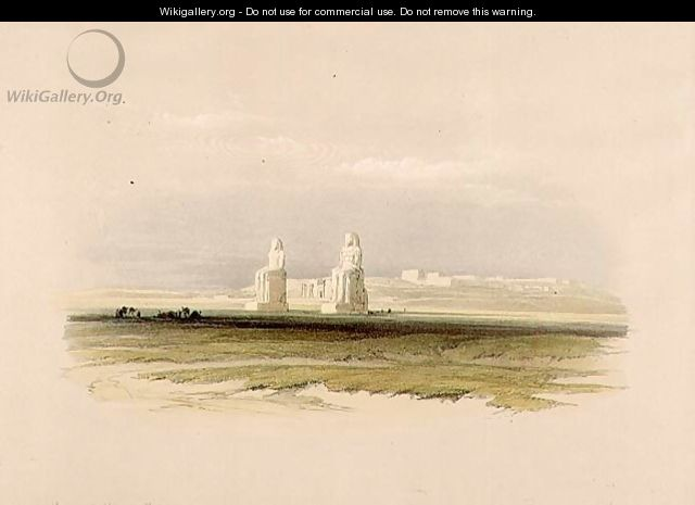 The Colossi of Memnon, from Egypt and Nubia, Vol.1 - David Roberts