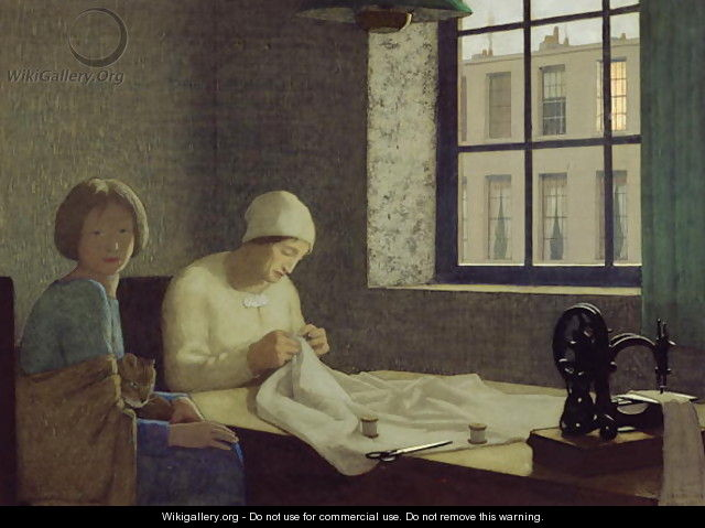 The Old Nurse, 1926 - Frederick Cayley Robinson