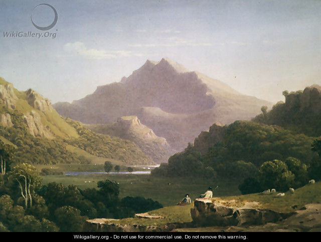 View in North Wales - George Fennel Robson