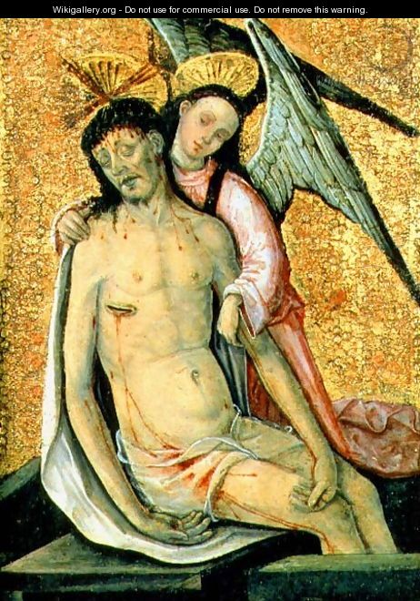 The Dead Christ Supported by an Angel - the Elder Rodrigo de Osona