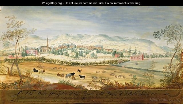 West Prospect of the Spa and Town of Cheltenham - Thomas Robins