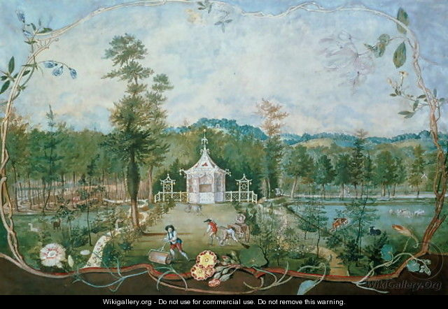Chinese Pavilion in an English Garden, 18th century - Thomas Robins