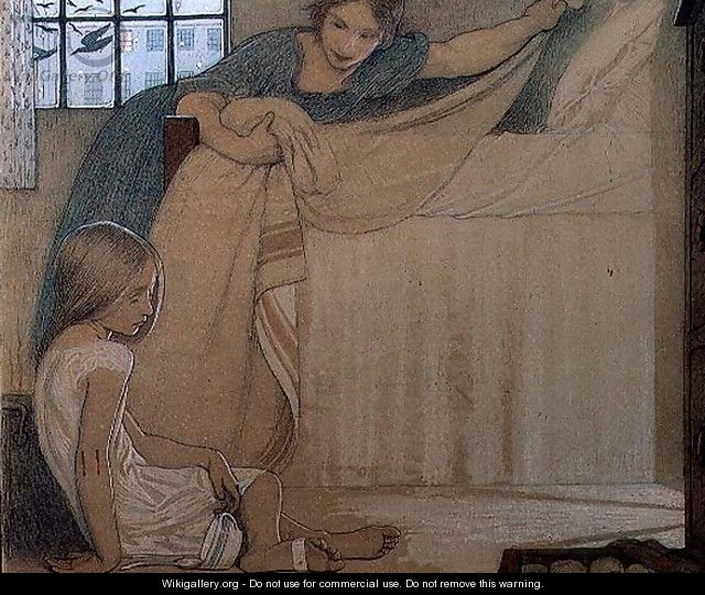 The Foundling, 1908 - Frederick Cayley Robinson