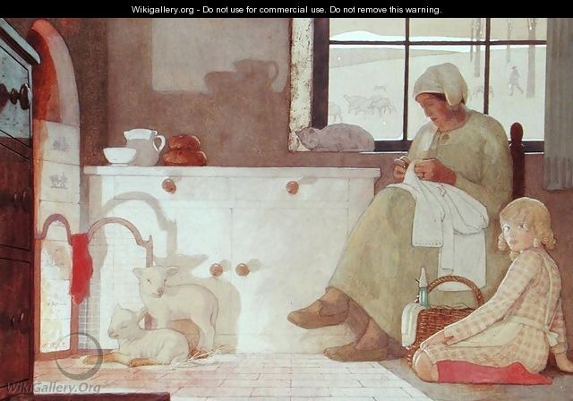 The Foster Mother, 1925 - Frederick Cayley Robinson