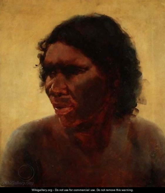 Portrait of an Aborigine, c.1895 - Thomas William Roberts
