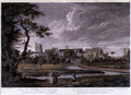 A View of the Archbishop of Canterburys Palace at Lambeth, in the County of Surrey, engraved by Wilson Lowry, pub. 1781 - George Robertson