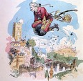 Illustration from The Adventures of Baron Munchausen - Albert Robida