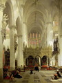 Lierre- Interior of St. Gommaire, 1850 - David Roberts