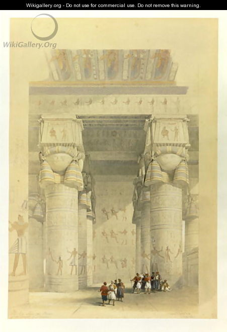 View from under the Portico of the Temple at Dendarah, from Egypt and Nubia, Vol.1 - David Roberts