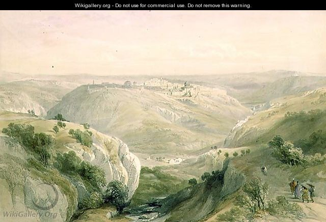 Jerusalem from the South, April 12th 1839, plate 10 from Volume I of The Holy Land, engraved by Louis Haghe 1806-85 pub. 1842 - David Roberts
