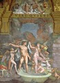 Mars and Venus bathing, aided by Cupid and putti from the Sala di Amore e Psiche, 1528 - Giulio Romano (Orbetto)