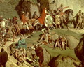 Charlemagne crossing the Alps in 773, detail of the Emperor and his retinue - Eugene Roger