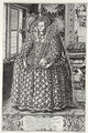 Portrait of Elizabeth I 1533-1603 engraved by the artist - William Rogers