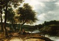 A Wooded River Landscape - Roelandt Roghman
