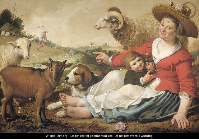 The Shepherdess 1628 - Jacob Gerritsz. Cuyp