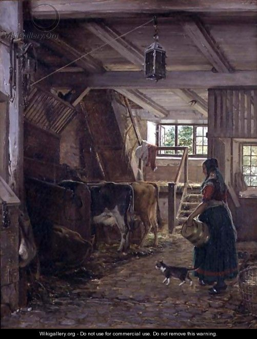 In the Cow Byre - Jorgen Roed