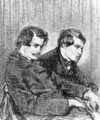 Portrait of Edmond and Jules de Goncourt - Paul Gavarni