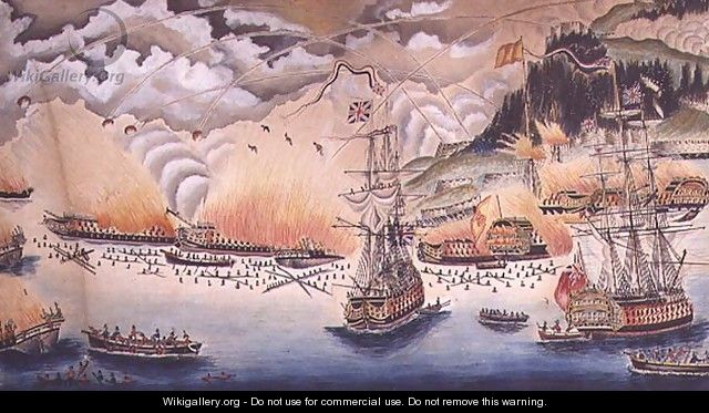 The Destruction of the Spanish Gun Boats and Floating Batteries at the Siege of Gibraltar by the Governor General Eliott, September 13th 1782, 1822 - James Rosewall