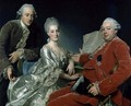 John Jennings Esq. and His Brother and Sister-in-Law, 1769 - Alexander Roslin