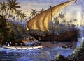HMS London, Chasing a Slaving Dhow near Zanzibar, 1877 - Rev. Robert Ross-Lewin