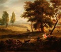 Hunting Party in an Extensive Landscape - James Ross