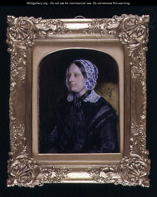 Portrait miniature of an unknown lady, 1852 - Sir William Charles Ross