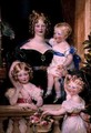 Mrs George Bankes and her Children, Georgina, Maria and Edmond, 1830 - Sir William Charles Ross