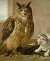 Eagle Owl and Cat with Dead Rats - Johann Heinrich Roos